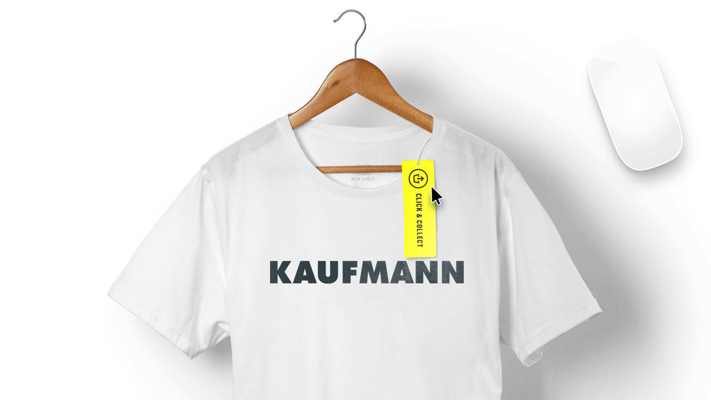 Kaufmann offers click and collect as a part of their new b2c ecommerce