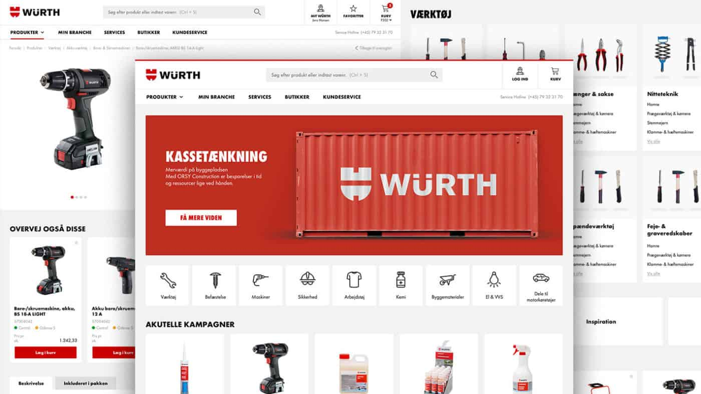 Interaktive prototype udarbejdet for Würth