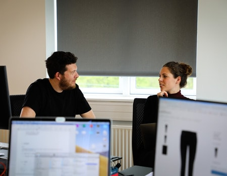 david cytryn and annika christensen discuss UX and design at the Copenhagen office