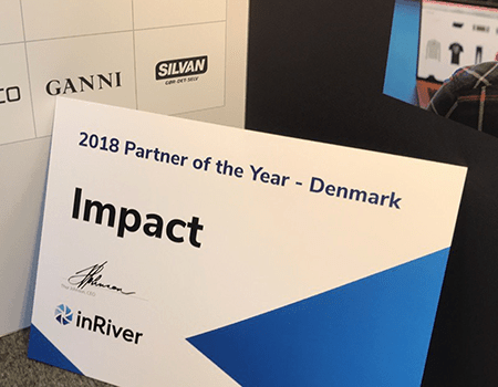 Impact inRiver partner of the year 2018 award