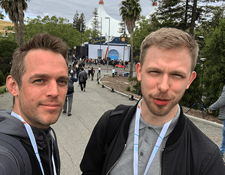 Mathias Helmut Pedersen and Filip Bruun Brech-Larsen from IMPACT participated in Google I/O 2019