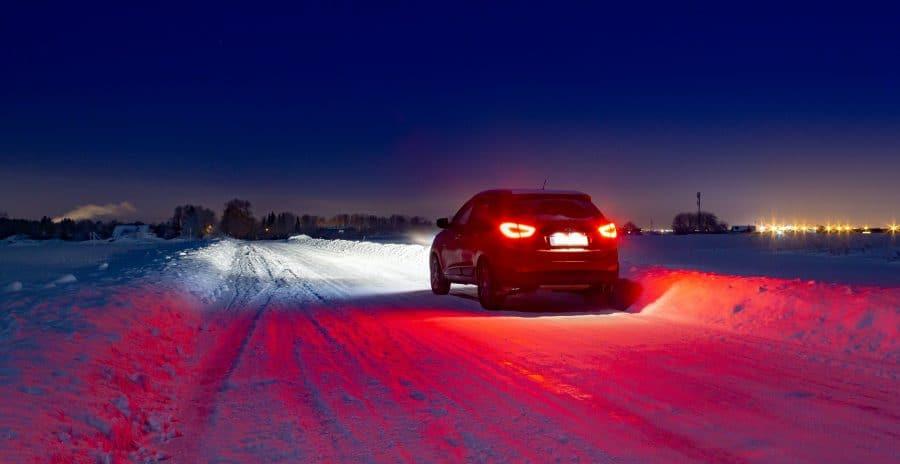 hyundai bil i snevejr
