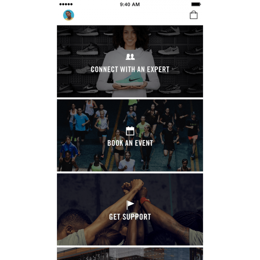 Nike has a cool commerce app